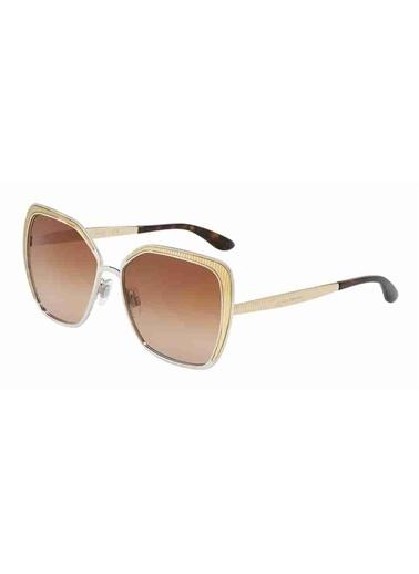 Dolce&Gabbana Dolce & Gabbana 2197 131313 56 Ekartman Kadın Güneş Gözlüğü Altın